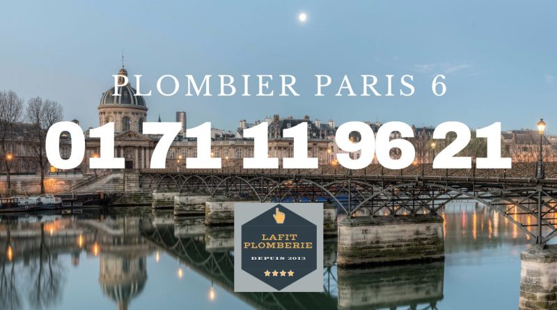 Plombier Paris 6 en urgence
